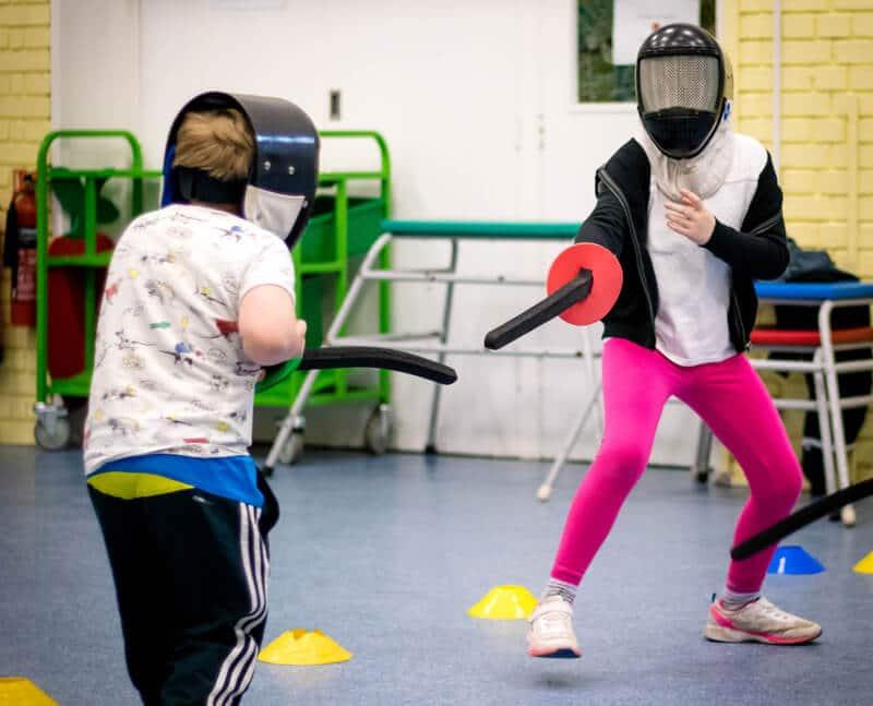 Fencing after school activity